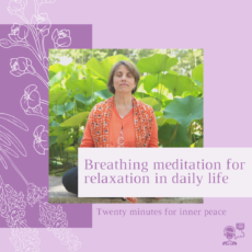 Breathing meditation for relaxation in daily life